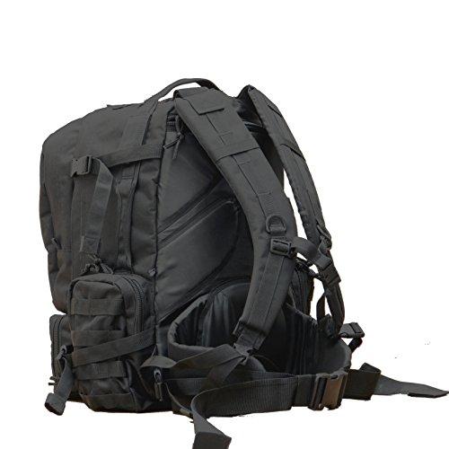 Taktischer Militär-Rucksack wasserdicht Large 70Liter schwarz