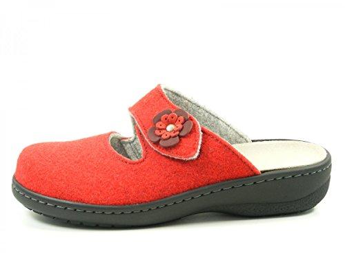 Dr. Brinkmann 700956 Zapatillas de casa para mujer Rot