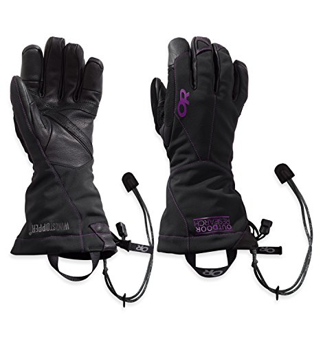 Outdoor Research Women's Luminary Sensor Gloves, Black/Ultraviolet, Large