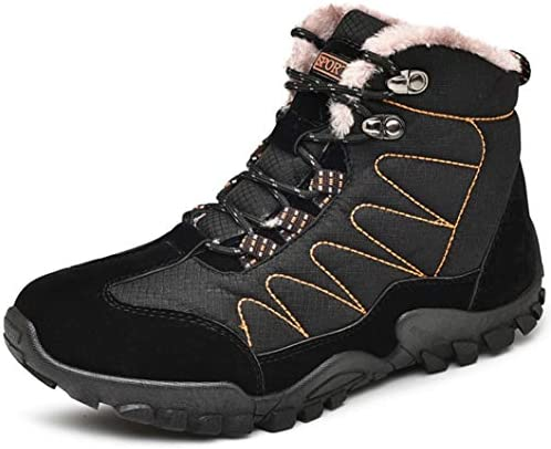 メンズ 防水 登山靴 ウォーキング シューズ アウトドア 靴 裏起毛 スニーカー ジョギングシューズ 通勤 通学 日常着用 ユニセックス ハイキング ブーツ ハイカット マウンテンブーツ トレッキングシューズ