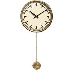 Mid Century Cream Clock Pendulum