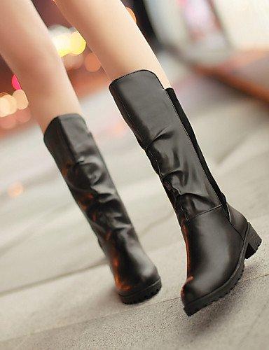 Moda Vellón Zapatos Brown La us5 Cn34 Xzz Robusto Mujer Negro us8 Punta Brown Eu35 Redonda De Uk6 Tacón Botas Cn39 Marrón Uk3 Casual A Semicuero Eu39 Vestido vdwOq
