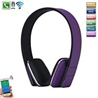 Bluetooth Sports Running Wireless Stereo Bluetooth V4.1 Adjustable Head Type Over Ear Headphone with Mic for iPhone X/8/8plus/7/7plus,Galaxy Note8/8s,iPad/Tablet/Other Bluetooth Smartphone,Purple