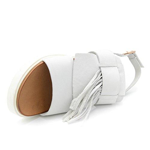Inuovo Nouvelle Sandale En Cuir Avec Frange Amovible Art.5117