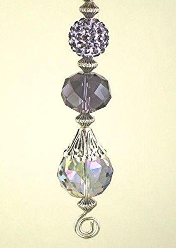Purple Amethyst Lavender Lampwork Glass Ceiling Fan Pull Chain/Light Pull by Trace Ellements