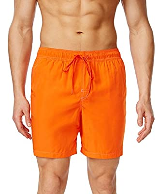 Calvin Klein Men's Contrast Stitching Volley Swim Trunk
