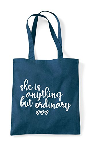 Anything Statement But Tote She Shopper Petrol Ordinary Is Bag xwT1U1