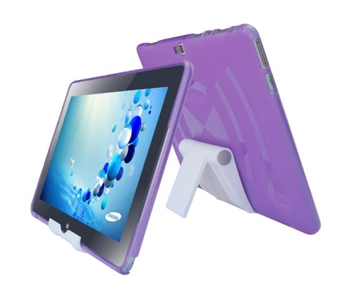 ple TPU Rubber Skin Cover Case and Multi-Angle View Stand Holder for Samsung ATIV Smart PC Tablet 500T1C 11.6-Inch ()