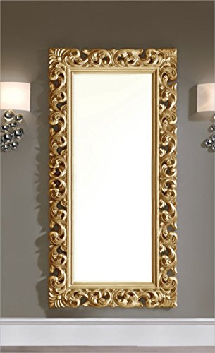 Dugarhome   specchio moderno, stile barocco, dorato: amazon.it ...