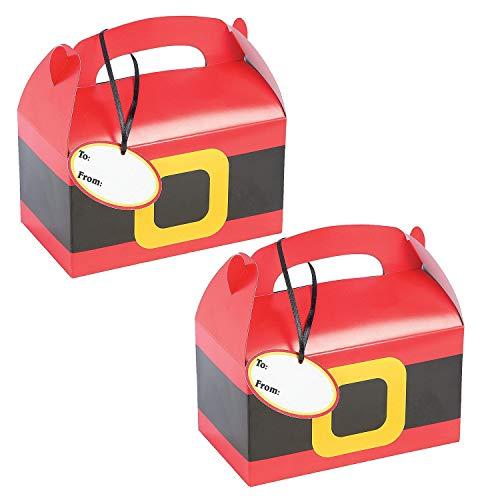 Fun Express 24 Christmas Santa Treat Box with Tags - Santa Christmas Box