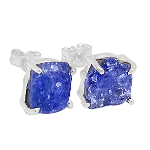 - Xtremegems Tanzanite Crystal - Stud 925 Sterling Silver Earrings Jewelry 21326E