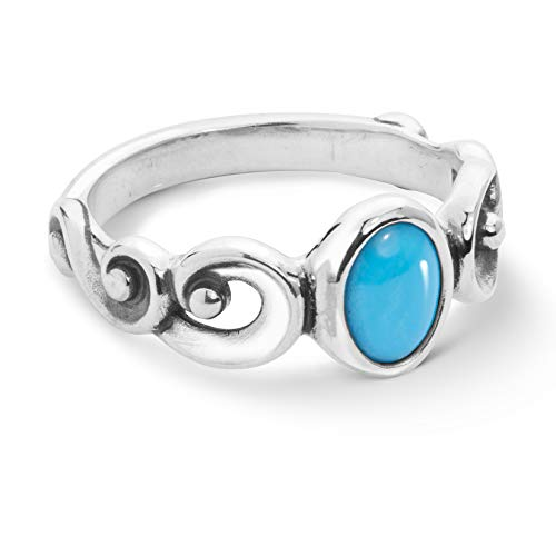 (Carolyn Pollack Sterling Silver Sleeping Beauty Turquoise Gemstone Ring Size 7)