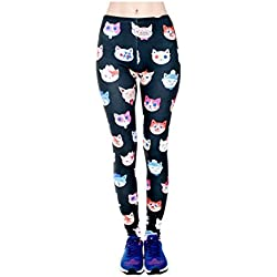 3D Cat Fashion Women Leggings Space Galaxy Leggins Fitness Pant
