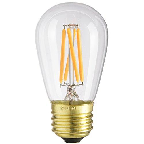Sunlite S11/LED/AQ/3W/DIM/CL/22K Vintage S11 3W LED Antique Filament Style Light Bulb 2200K Medium E26 Base 25W Incandescent Replacement Lamp, Warm White