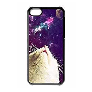 Galaxy Hipster Cat Custom Cover Case for Iphone 5C,diy phone case ygtg551073