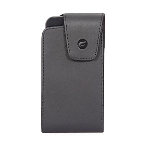 Premium Black Leather Case Cover Pouch Holder Swivel Belt Clip for T-Mobile Blackberry Curve 3G 9300 - T-Mobile Blackberry Curve 8520 - T-Mobile Blackberry Curve 8900 - T-Mobile Blackberry Curve - Blackberry 8900 T-mobile Curve