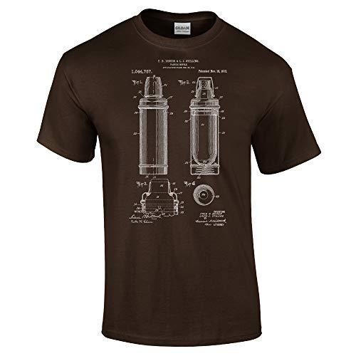 rt, Camping Gifts, Dewar Bottle, Ranger Woodsman, Vacuum Flask, Soup Bottle, Travle Mug, Hiking Gear Dark Chocolate (Medium) ()