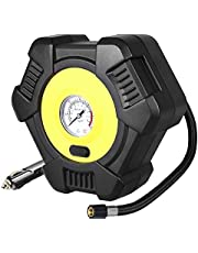 Air Compressor BUTURE Tire Inflator Portable Air Inflator Pump Suitable for Pressure Gauge, 12V Auto Tire Inflator for Car, Bicycle, Motorcycle, SUV,Basketball and Other Inflatables