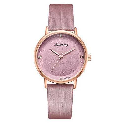 (Yucode Women Elegant Simplicity Quartz Watches Digital Wristwatch Bracelet Dress Watch with PU Band)