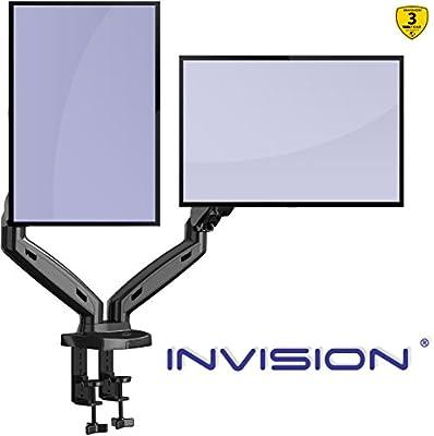 Invision Soporte Monitor Doble PC Brazo: Amazon.es: Electrónica