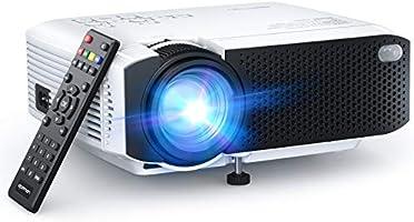 APEMAN Mini Projecteur, 1080P Supporté Portable Vidéoprojecteur Full HD, 45000 Heures Multimédia Cinéma Maison LED...