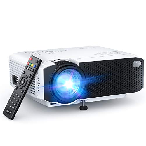 """APEMAN LC350 Mini Projector, 2021 Upgraded 4500L Brightness, 1080P and 180"""" Display Supported, Portable Movie Video Projector, 55,000Hrs LED Life, Compatible with TV Stick, VGA, PS4, HDMI, TF, AV, USB"""