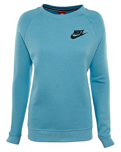 Nike W Nsw Rally Crw Kvinners Atle-gensere 826662 Himmel Blå / Levende Himmel-svart