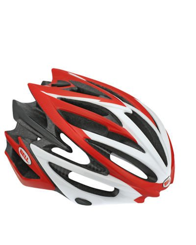 Bell Volt Bike Helmet (Red/White, Small)