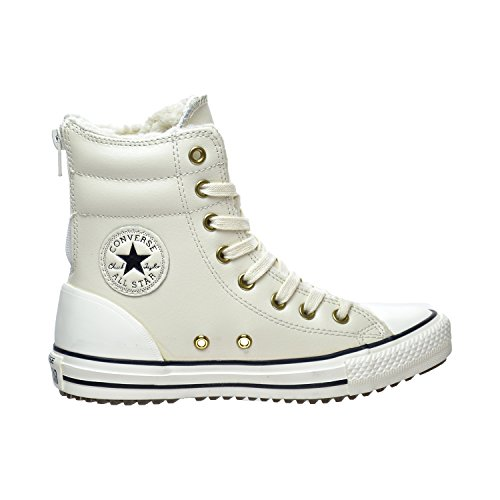 Converse Chuck Taylor All Star Hi-Rise X-Hi Little Kid's/Big Kid's Boots Parchment/Black/Egret 653389c (11 M US)