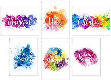 Colorful Abstract Splats Inspirational Prints product image