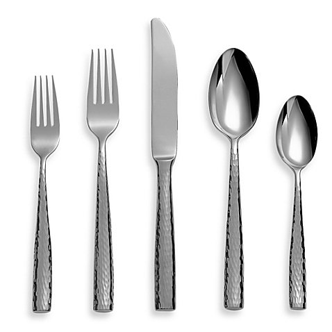 Michael Lloyd Martello 5-Piece Flatware Place Setting, 18/8 stainless steel | Mirror finish (Hotel Flatware Silverplate)