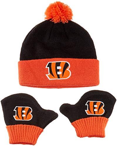 OTS NFL Cincinnati Bengals Pow Knit Cap   Mittens Set 9c3954d9a