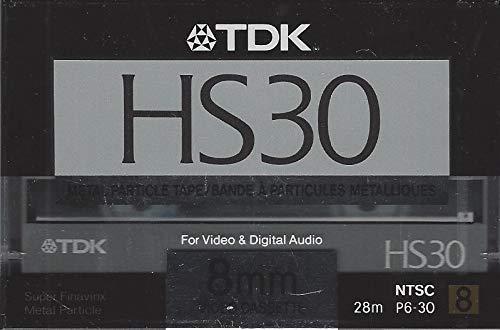 TDK HS30 8mm Video Cassette NTSC LP: 60, SP: 30