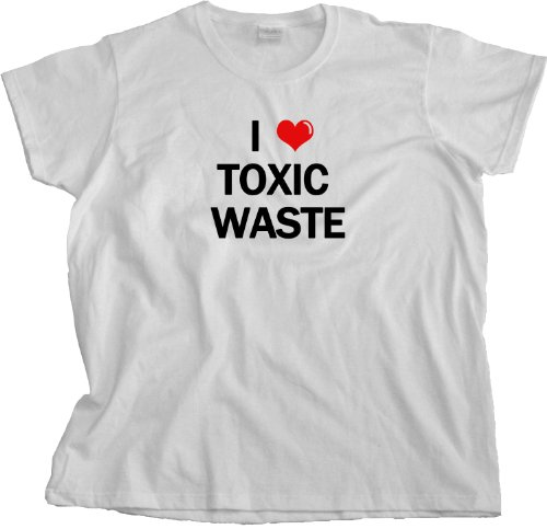 I HEART TOXIC WASTE Funny Real Genius 80s T-shirt Ladies Cut T-shirt / i love toxic waste real genius shirt