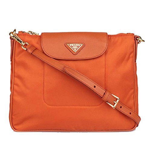 ac395a6ed9 Prada BT0933 Tessuto Nylon Leather Cross-Body Messenger Bag Papaya Orange -  Buy Online in UAE. | prada Products in the UAE - See Prices, Reviews and  Free ...