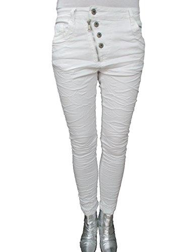 Larghi Jeans Bianco Squadrate Lexxury Jewelly Donna Abbottonatura Frontale Colori Ragazzo Zip Altri q6f6ItS