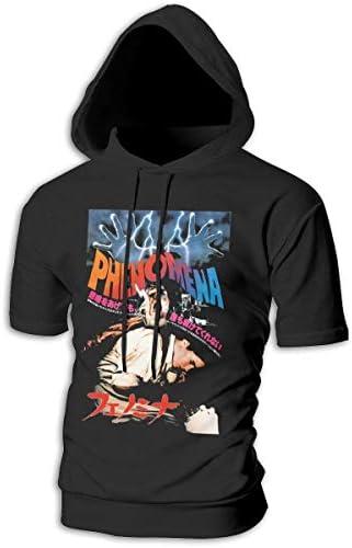 Tシャツ シャツ ティーシャツ スウェットシャツ パーカー ストレッチ メンズ 半袖 フード付き フェノミナ 映画 スポーツtシャツ 吸汗速乾 トレーニング ジムtシャツ 通気性 黒