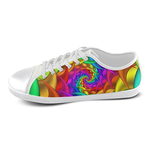 Artsadd Psychedelic For Shoes Psychedelic Rainbow Spiral Spiral Artsadd Canvas Rainbow Canvas Shoes Men Model016 YCq6BrwC
