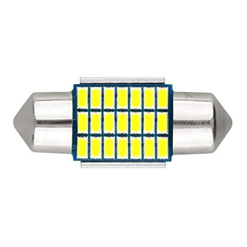 31 mm, 6000 K, 12 V, luz blanca, 21-SMD 3014, chipsets Canbus, sin errores, para interior de matr/ícula, luces de lectura, paquete de 2 unidades, 31 mm SUMOZO Festoon C5W Bombillas LED