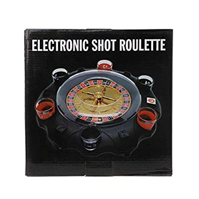 KOVIPGU Electric Drinking Game Set Roulette Adult Party Casino Style 6 Shot Glasses Gift: Home & Kitchen