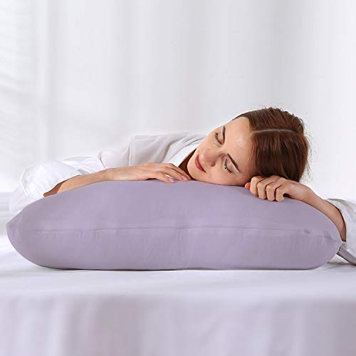 GoMaihe Almohada Embarazada, 150×80cm Almohada de 100% Algodón, Almohada de Cuerpo Completo con Forma de U Grande, Reemplazable, Extraíble y Lavable, ...