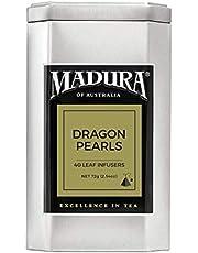 Madura Jasmine Dragon Pearls 40 Leaf Infusers in Tea Caddy, 1 x 72 g
