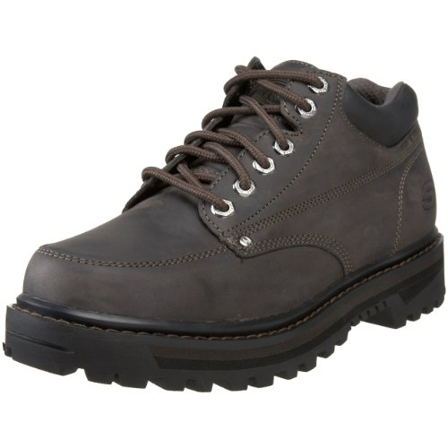 Skechers USA Men's Mariners Lace-Up Boot,Charcoal,9.5 M US