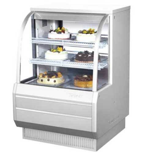 Turbo Tcgb-36-2 Display Case, Curved Glass, Bakery, Refrigerated, 36-1/2