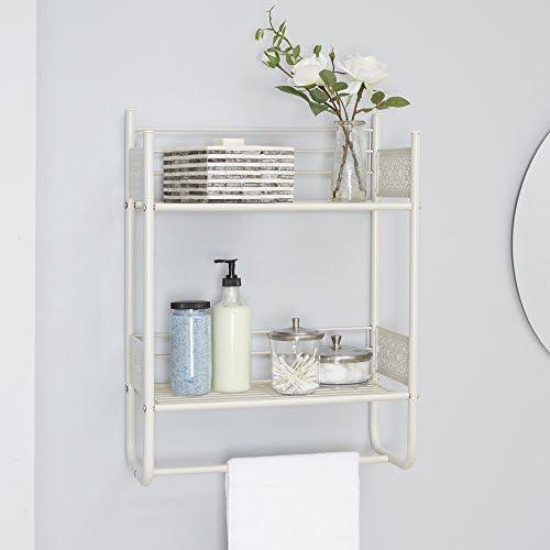 tools, home improvement, hardware, bathroom hardware,  bathroom shelves 3 discount Silverwood Filigree Bathroom Collection Wall Shelf, 18