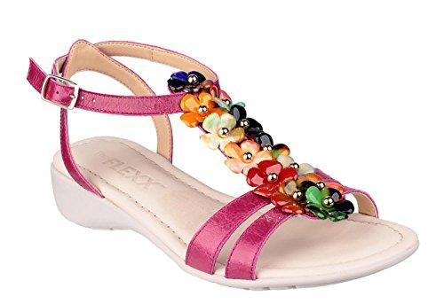 The Flexx NEW GLADIOLA sandalo zeppa 3cm con cinturini e fiori