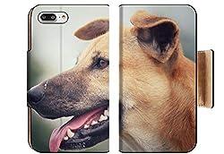Luxlady Premium Apple Iphone 8 Plus Flip Pu Wallet Case Id 43099866 Dog Looking In The Park
