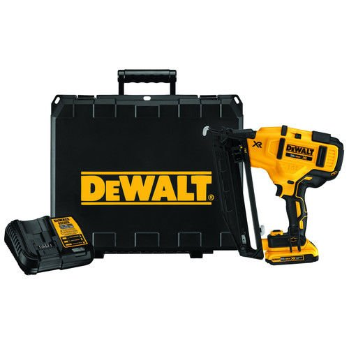 20V MAX 2.0 Ah Cordless Lithium-Ion 16 Gauge 2-1/2 in. 20 Degree Angled Finish Nailer Kit by DEWALT