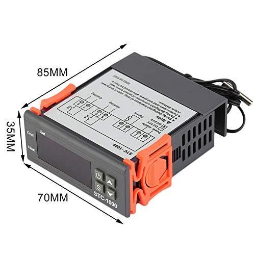 24V Deux relais de sortie R/égulateur num/érique de temp/érature Thermostat STC-1000-50 ~ 99 degr/és avec capteur Professional DC AC 12V