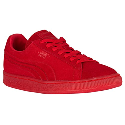 PUMA Suede Emboss Iced Fashion Sneakers (11.5 D (M) US, High Risk red)